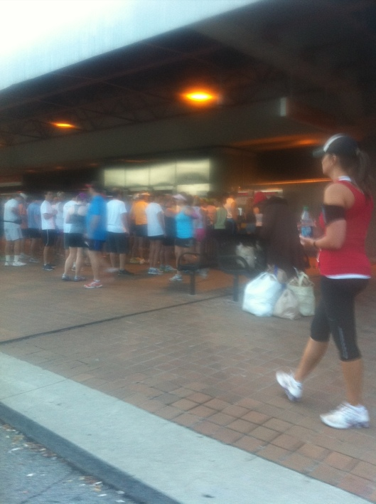 The MARTA card line last July 4th. Don't be these people.