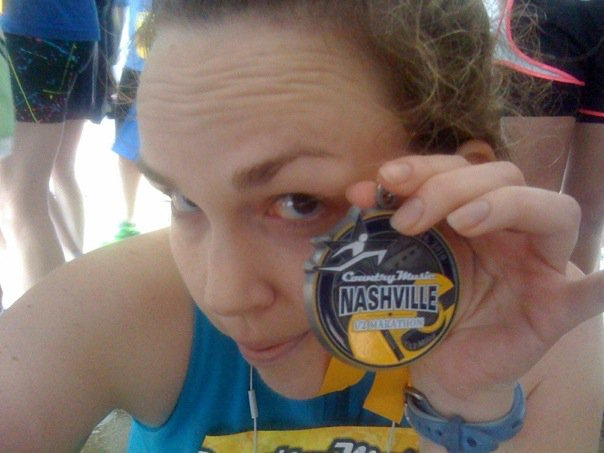 Portrait of A Girl in Love: Immediately after my first 1/2 marathon