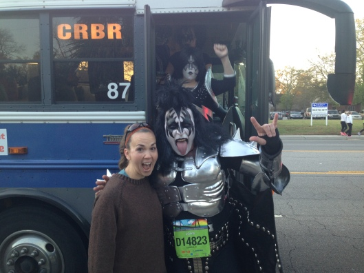 Look who was on our boat and bus! Ready to ROCK the race!