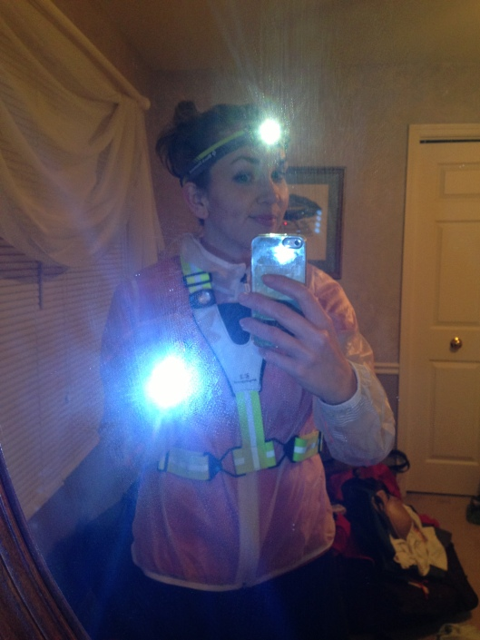 I take nighttime running safety very seriously.