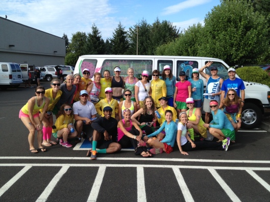 The majority of the #nuunhtc crew: Teams Watermelon, Lemonade, Cherry Limeade, and our drivers
